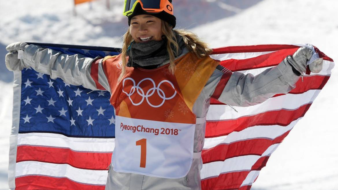 Chloe Kim Takes Home Olympic Gold in Women's Halfpipe Event
