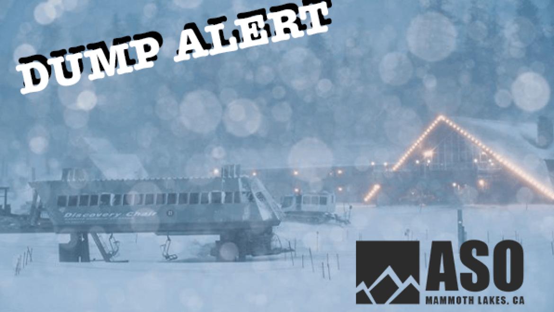 Dump Alert Hitting Mammoth Thursday into Friday Morning