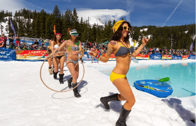 Mammoth Mountain Pond Skim