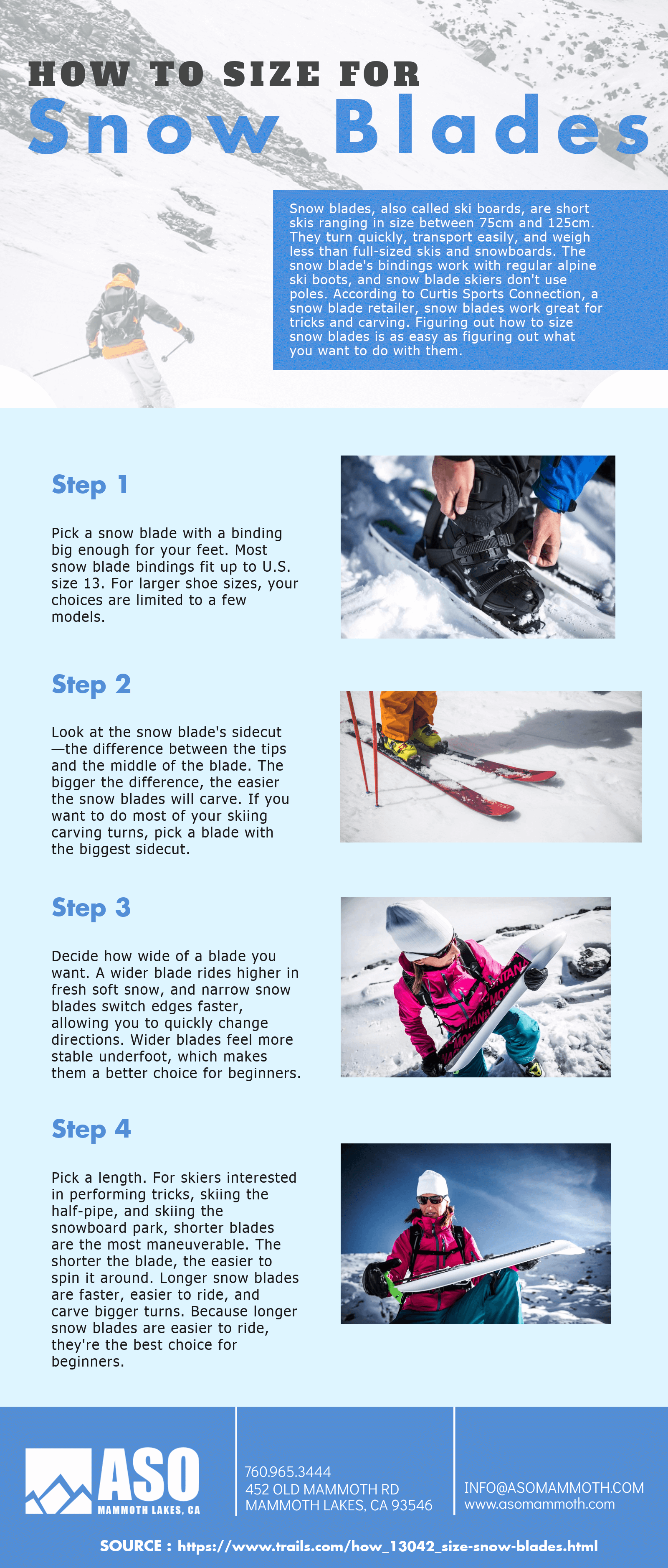 How to Size for Snow Blades [Infographic]