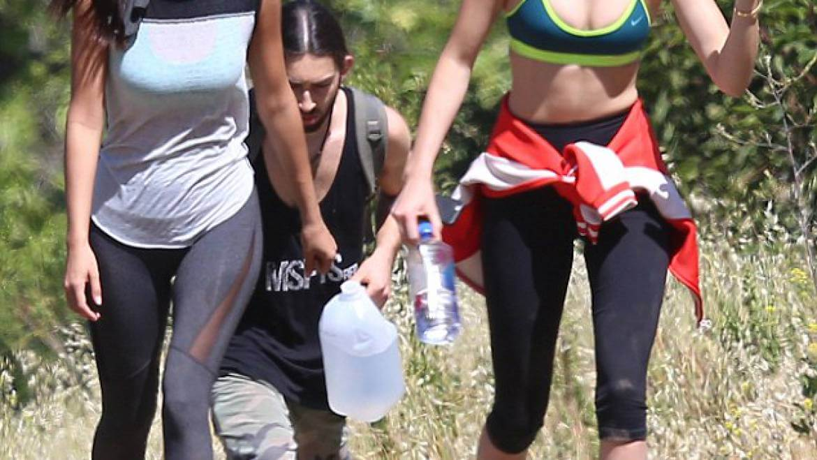 kendall jenner hiking in mammoth lakes