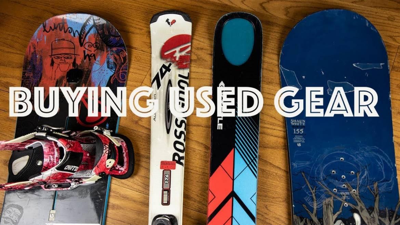 buy used snowboard and ski gear mammoth