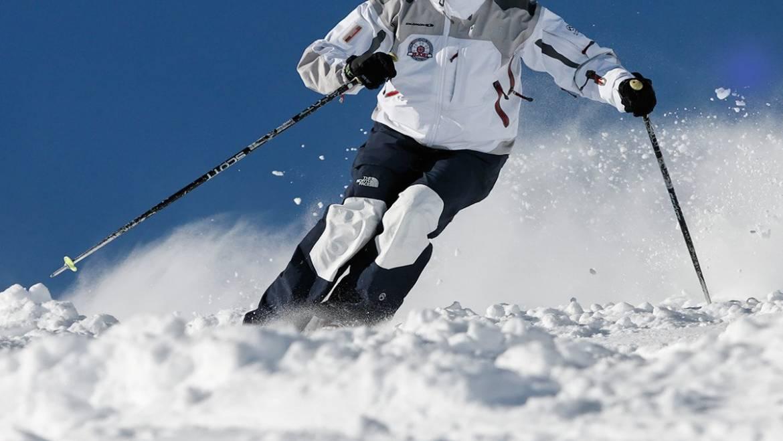 skiing moguls mammoth