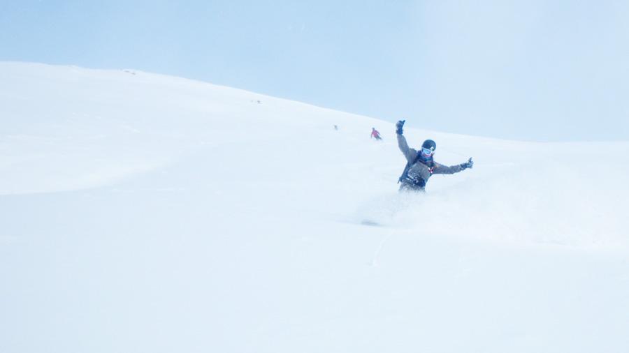 rocker powder snowboard