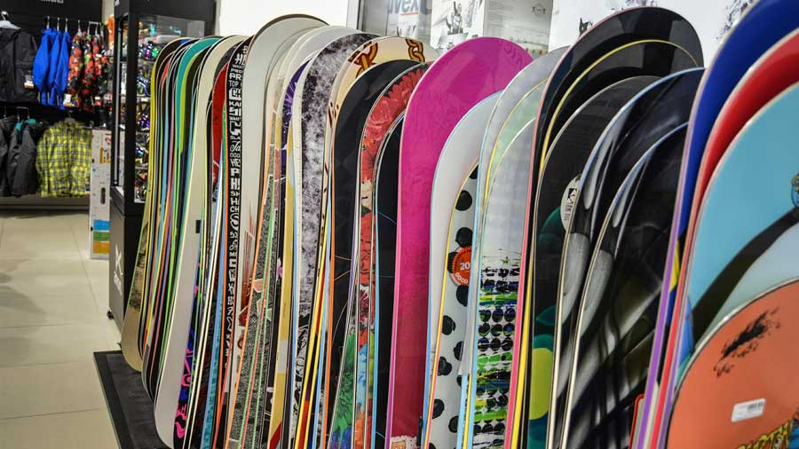 using new ski and snowboard gear