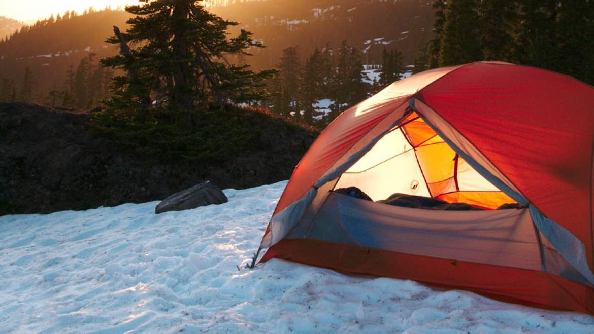 camping in cold