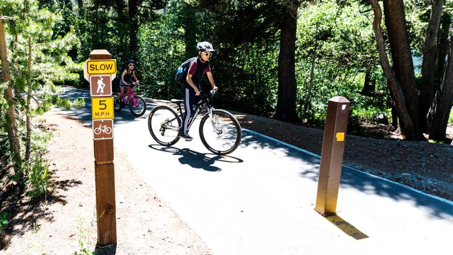 Bike trails in Mammoth Lakes