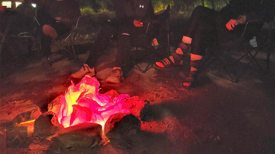 Safe No-Fire Campfire