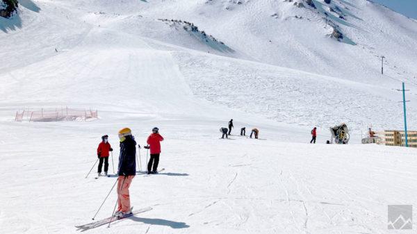 multiple people in ski slope