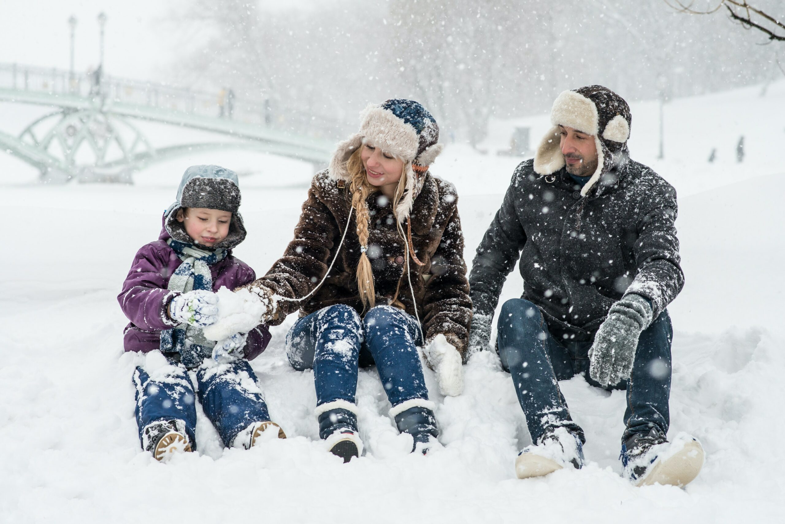 family trip to mammoth mountain in the winter